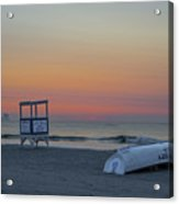 First Light On Ocean City New Jersey Beach Acrylic Print