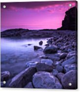 First Light On The Rocks At Indian Head Cove Acrylic Print