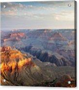First Light Over Grand Canyon, Arizona, Usa Acrylic Print