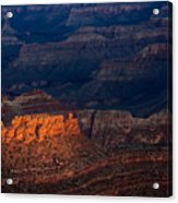 First Light Over Yavapai Point  Grand Canyon Acrylic Print