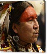 Pow Wow First Nations Man Portrait 1 Acrylic Print