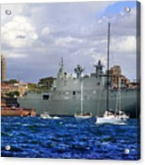 First Peak At Australia's Newest Warship Acrylic Print