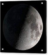 First Quarter Moon Acrylic Print