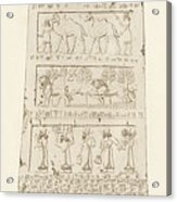 First Side Of Obelisk, Illustration From Monuments Of Nineveh Acrylic Print