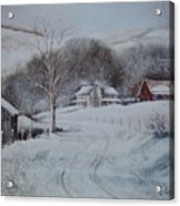 First Snow- Banner Elk Acrylic Print
