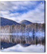 First Snow On West Lake Acrylic Print