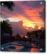First Sunset In Negril Acrylic Print