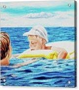 First Swimming - Nadar Primero Acrylic Print