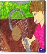 First Time For Tennis Acrylic Print