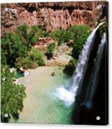 First View Of Havasu Falls Acrylic Print