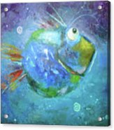 Fish Blue Acrylic Print