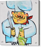 Fish Chef Acrylic Print