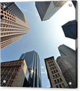 Fish-eye Lens Of Building Acrylic Print by Robin Houde photography