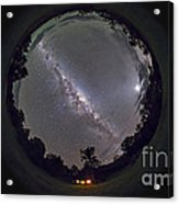Fish-eye Panorama Of The Southern Night Acrylic Print