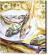 Fish For Dinner. Acrylic Print