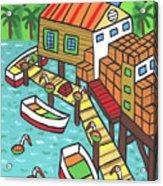 Fish House-cedar Key Acrylic Print