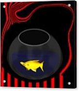 Fish In A Bowl Acrylic Print