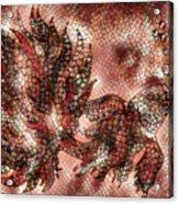Fish In Cinnamon Mosaic 1 Acrylic Print