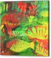 Fish In Green Acrylic Print