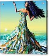 Fish Queen Acrylic Print