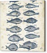 Fish Species Historiae Naturalis 08 - 1657 - 14 Acrylic Print