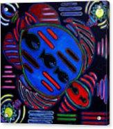 Fish Turtle Mola Acrylic Print
