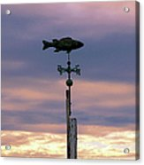 Fish Weather Vane At Sunset Acrylic Print