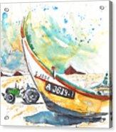 Fisherboat In Praia De Mira Acrylic Print