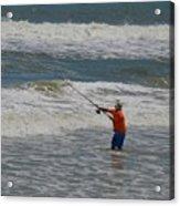 Fisherman And The Sea Acrylic Print