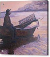 Fisherman At Good Harbor Beach Gloucester Circa 1880 Acrylic Print