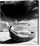 Fisherman Boat Acrylic Print