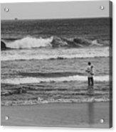 Fisherman - Costa Del Sol - El Salvador Bnw V Acrylic Print