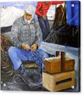 fisherman from Mola di Bari Acrylic Print