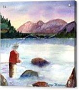Fisherman In The Morning Acrylic Print