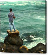 Fisherman Acrylic Print by Marilyn Hunt
