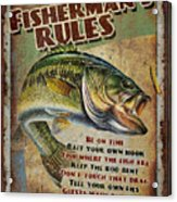 Fisherman's Rules Acrylic Print by JQ Licensing