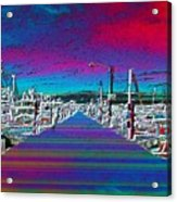 Fishermans Terminal Pier Acrylic Print