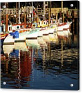 Fisherman's Wharf Marina Visit Www.angeliniphoto.com For More Acrylic Print by Mary Angelini