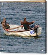 Fishermen In A Boat Acrylic Print