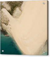 Fishermen On A Sand Bank On An Island Acrylic Print