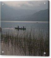Fishermen On Lake Atitlan Acrylic Print