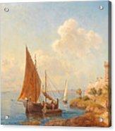 Fishermen On The Dalmatian Coast Acrylic Print