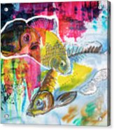 Fishes In Water, Original Painting Acrylic Print