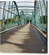 Fisheye South Washington St. Bridge Acrylic Print