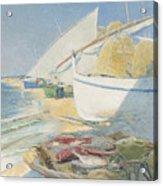 Fishing 1895 Acrylic Print