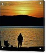 Fishing Along The Hudson Acrylic Print