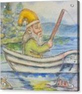 Fishing Around Acrylic Print