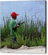 Fishing At Hickory Mound Acrylic Print