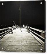Fishing At Night Acrylic Print