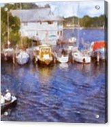 Fishing At The Marina Acrylic Print